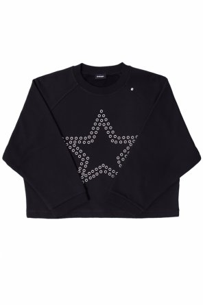 Sweatshirt with eyelets od Diesel