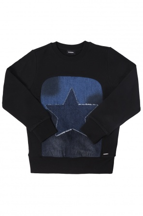Denim applique sweatshirt od Diesel