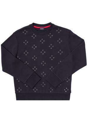 Sweatshirt with metal eyelets od Diesel