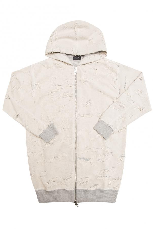 Diesel Kids Reversible hooded sweatshirt
