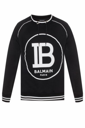 Sweatshirt with velvet logo od Balmain