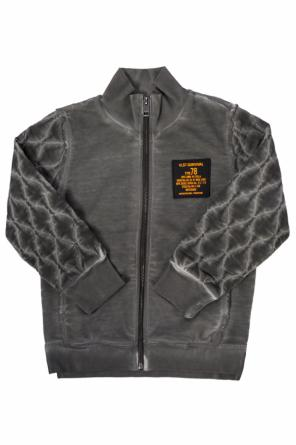 Sweatshirt with quilted sleeves od Diesel