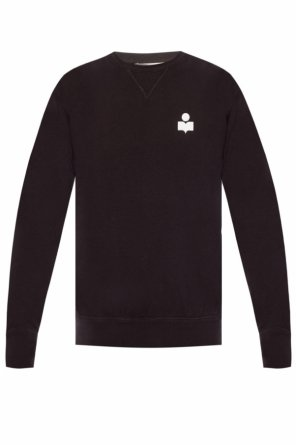 Sweatshirt with velvet logo od Isabel Marant