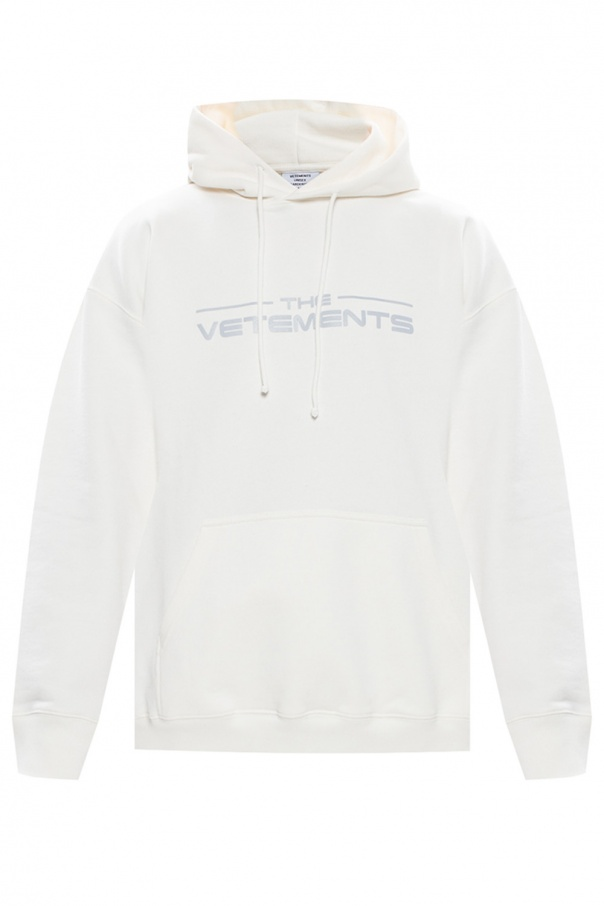 Vetements Hoodie with reflective logo