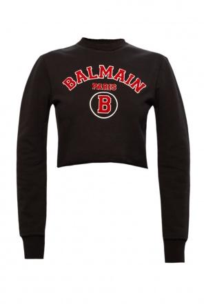 Cropped sweatshirt with logo od Balmain