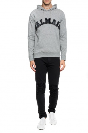 Sweatshirt with a sewn-on logo od Balmain