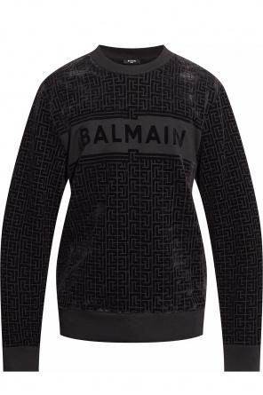 Sweatshirt with velvet monogram od Balmain