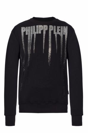 Sweatshirt with a logo studded with stones od Philipp Plein