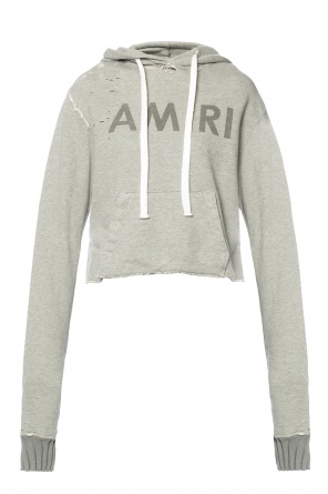Cropped hooded sweatshirt od Amiri