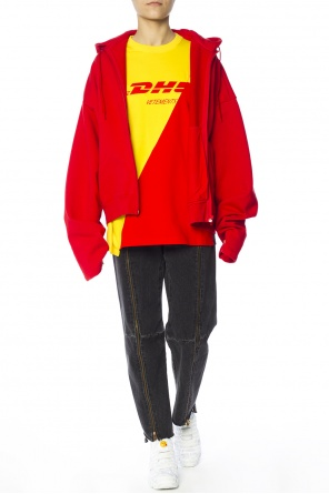 Oversize sweatshirt with raised collar od Vetements