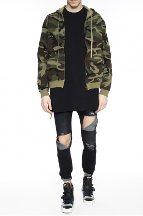 Lace-up camo sweatshirt od Faith Connexion