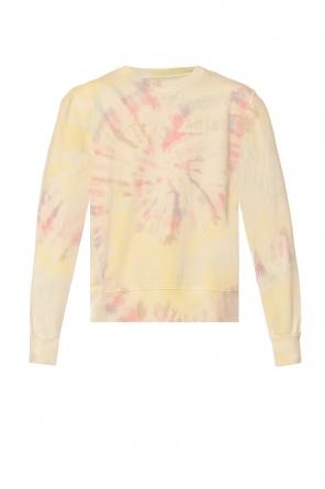Sweatshirt with velvet logo od Amiri