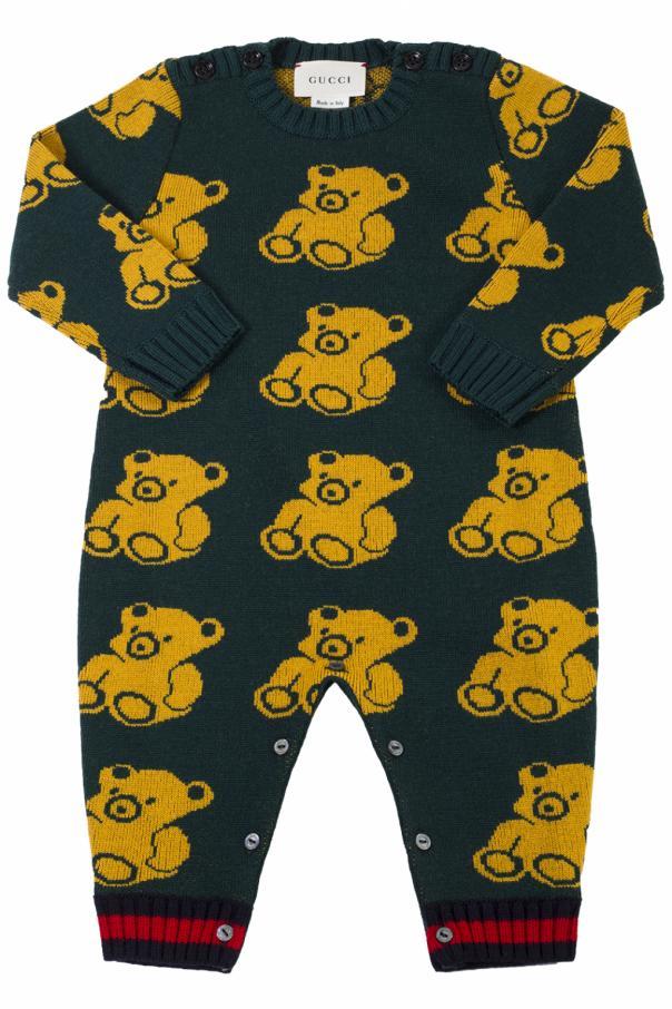 ebed4fc4e4d Teddy bear romper suit Gucci Kids - Vitkac shop online