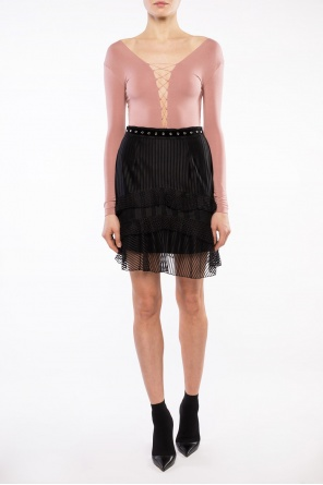 Lace-up collar body od T by Alexander Wang