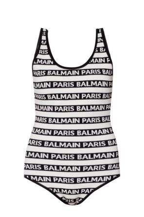 Bodysuit with an embroidered logo od Balmain