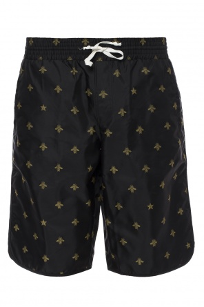 Bee motif swimming shorts od Gucci