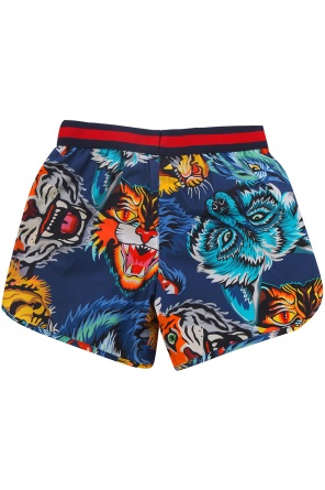 Patterned swimming shorts od Gucci Kids