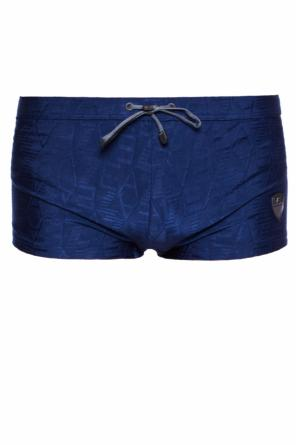 Logo-embroidered swimming shorts od EA7 Emporio Armani