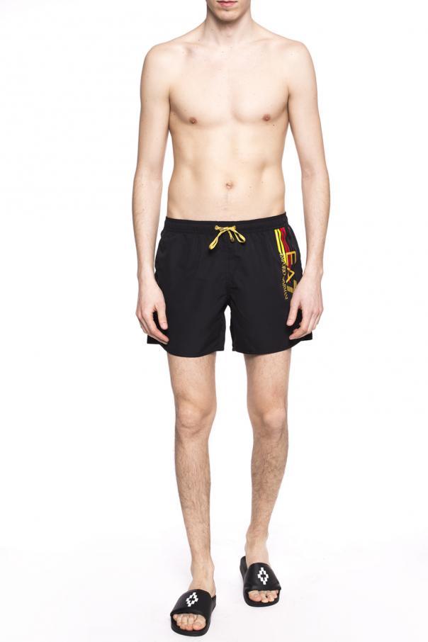 cddb5831d3 Logo-printed swim shorts EA7 Emporio Armani - Vitkac shop online