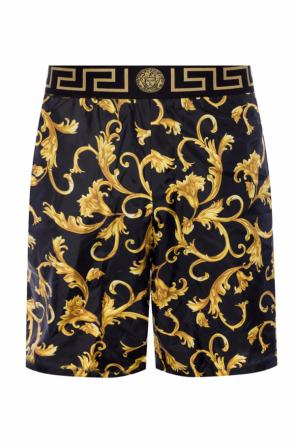 Patterned swim boxers with logo od Versace