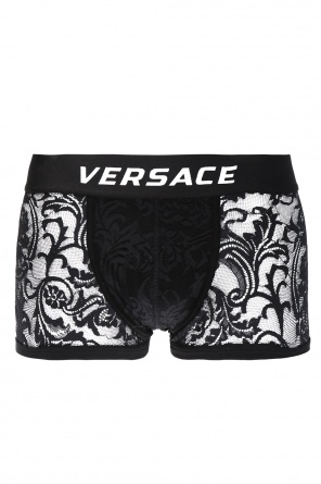 Lace boxers with logo od Versace