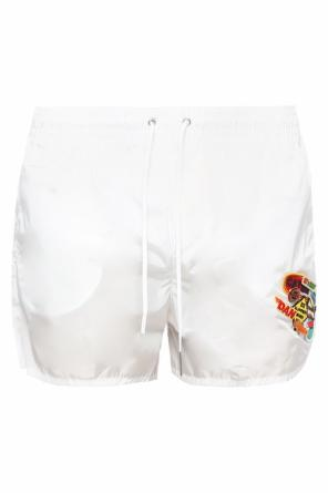 Patched swim shorts with pins od Dsquared2