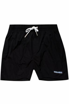 Swimming trunks with a printed logo od Dsquared2