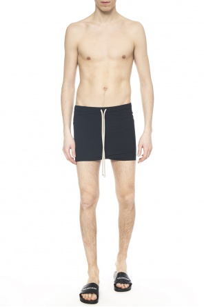 Dropped crotch swimming shorts od Rick Owens