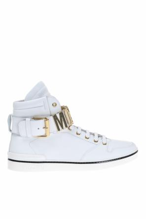 Leather high-top sneakers od Moschino
