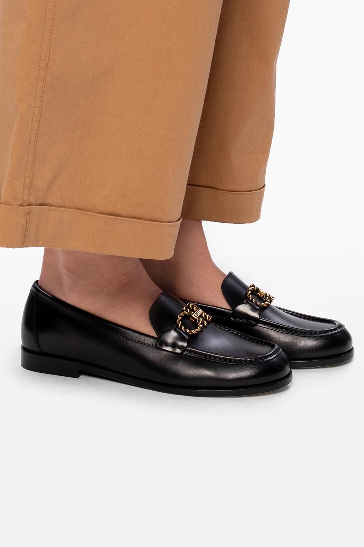 Salvatore Ferragamo 'Rolo' leather moccasins