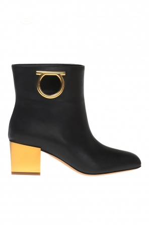 'albiano' decorative heel ankle boots od Salvatore Ferragamo