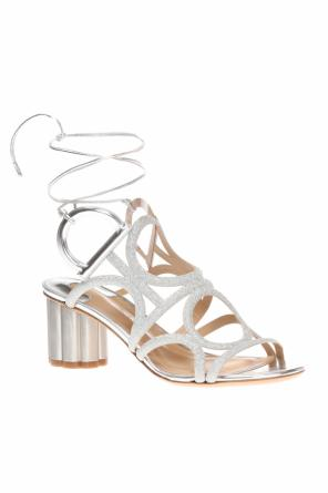 Stiletto sandals with 'gancini' motif od Salvatore Ferragamo