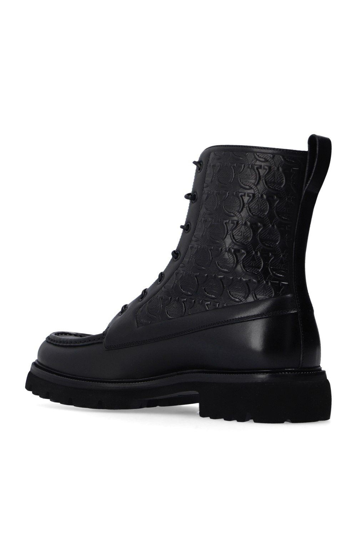 Salvatore Ferragamo Skórzane buty za kostkę 'Naval 2'