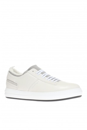 Fur-trimmed sneakers od Salvatore Ferragamo