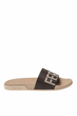'amos' slides with logo od Salvatore Ferragamo