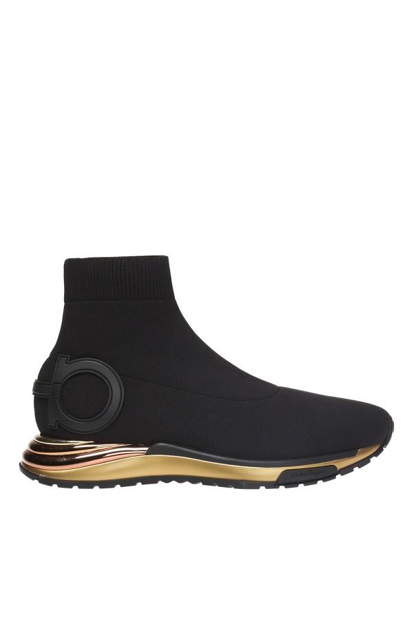 Salvatore Ferragamo 'Gardena' high-top sneakers with sock