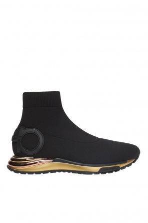 'gardena' high-top sneakers with sock od Salvatore Ferragamo
