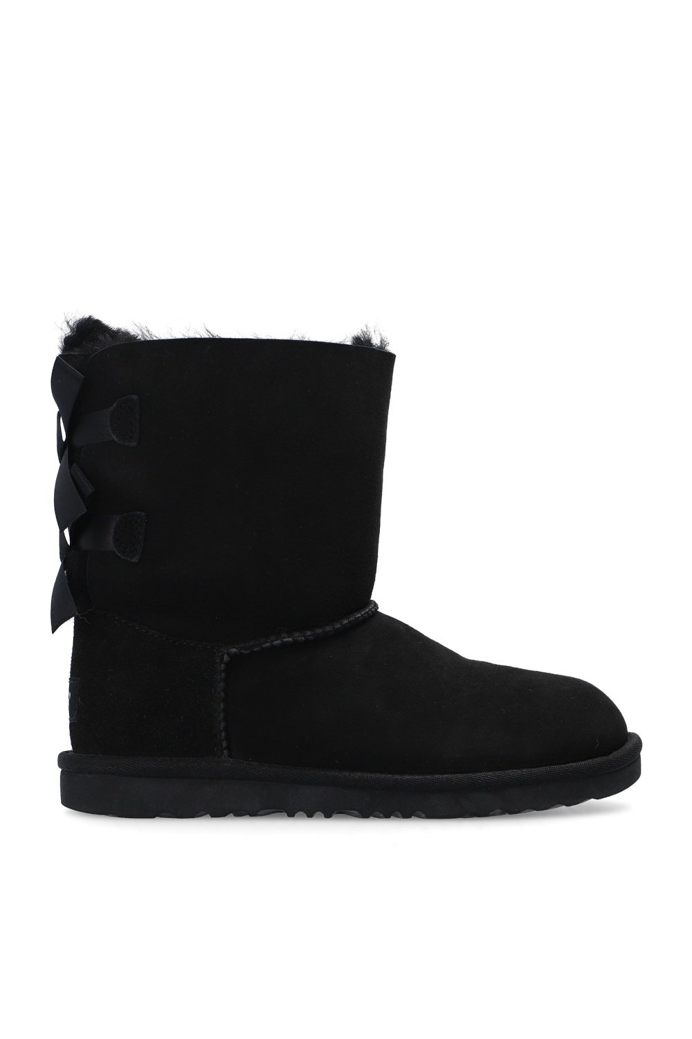 UGG Kids 'K Bailey Bow II' suede snow boots