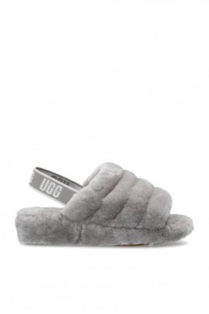'w fluff yeah slide' fur slippers od UGG