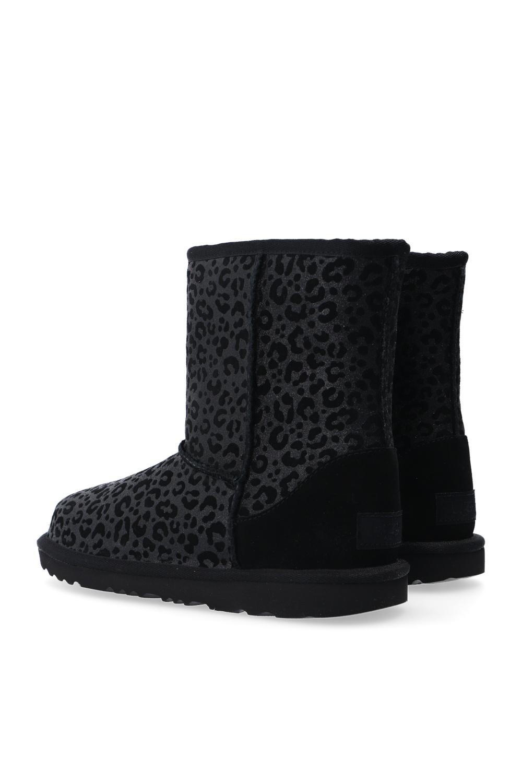 UGG Kids 'T-Classic II Glitter Leopard' snow boots