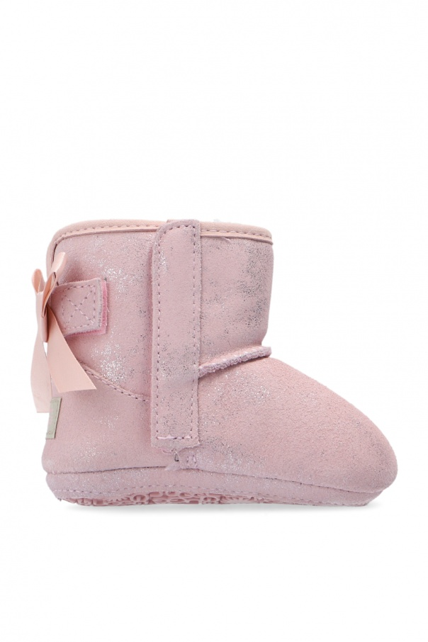 UGG Kids 'Jesse Bow II Shimmer' suede snow boots