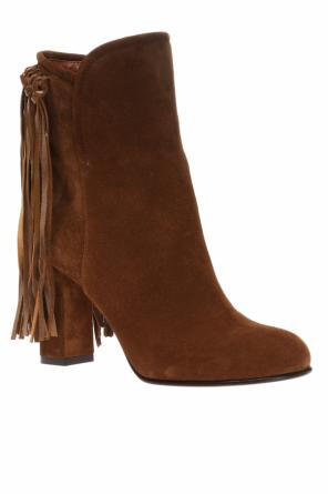 Heeled boots with fringes od Etro