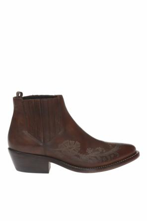 Patterned ankle boots od Etro