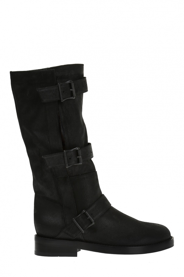 Ann Demeulemeester Buckled Suede Boots