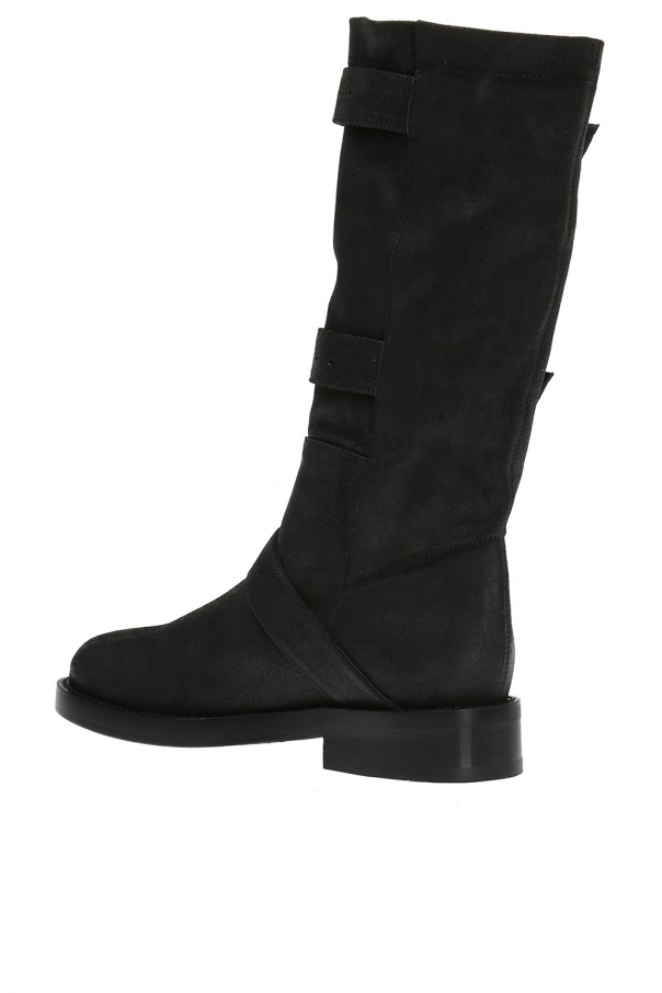 Buckled suede boots od Ann Demeulemeester