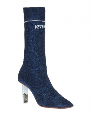 Ankle boots with logo sock od Vetements