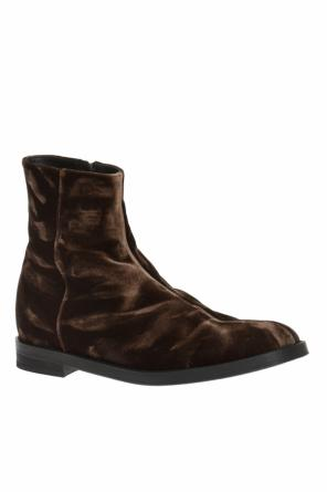 Velvet high-top shoes od Ann Demeulemeester
