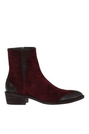Distressed heeled ankle boots od Haider Ackermann