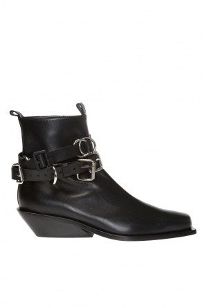 Heeled ankle boots with buckles od Ann Demeulemeester
