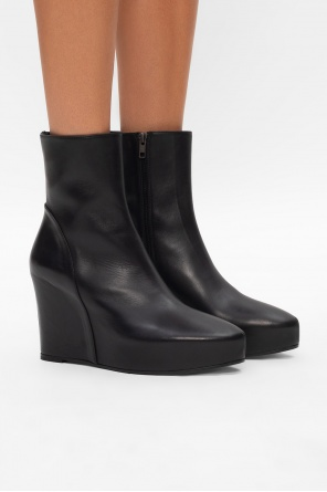 Leather wedge ankle boots od Ann Demeulemeester